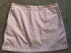 ADIDAS women Plaid skirt  Golf Tennis Size 10 Free Shipping #adidas #SkirtsSkortsDresses