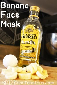 Home-Made Banana Face Mask! This mask works wonderfully for DRY & SENSITIVE skin! Only requires three ingredients: 1 egg yolk 1 mashed banana 2 teaspoons of Olive Oil or Coconut Oil