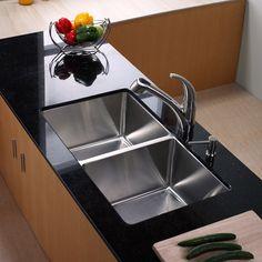 Kohler bowl shape kitchen sink with unique ceramic http kraus x undermount double bowl kitchen sink with faucet workwithnaturefo