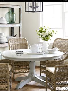 Going to strip and paint out dining room table white...just like this one.