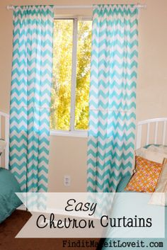 Find it, Make it, Love it: Easy Chevron Curtains
