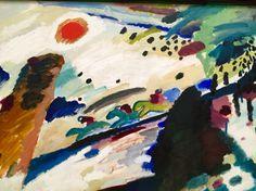 Wassily Kandinsky - romantic landscape - Lenbachhaus Museum Munich