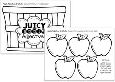 Adjectives with Apples! {Free}