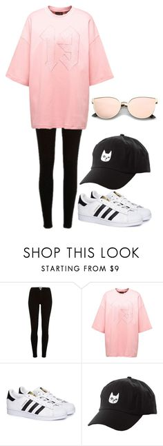 """""""Untitled #79"""" by leikas ❤ liked on Polyvore featuring River Island, adidas and Charlotte Russe"""