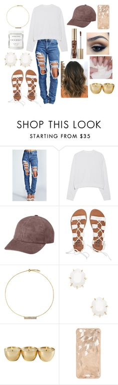 """""""Untitled #217"""" by agcotton ❤ liked on Polyvore featuring Boohoo, Acne Studios, Vianel, Too Faced Cosmetics, Maybelline, Billabong, Hysteric Co., Kendra Scott and Herbivore"""