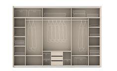 Distribución armario, incluiría mas cajones en las áreas libres.