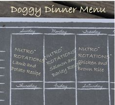 What's on your dog's dinner menu this week? NUTRO ROTATIONS #HonestToDog