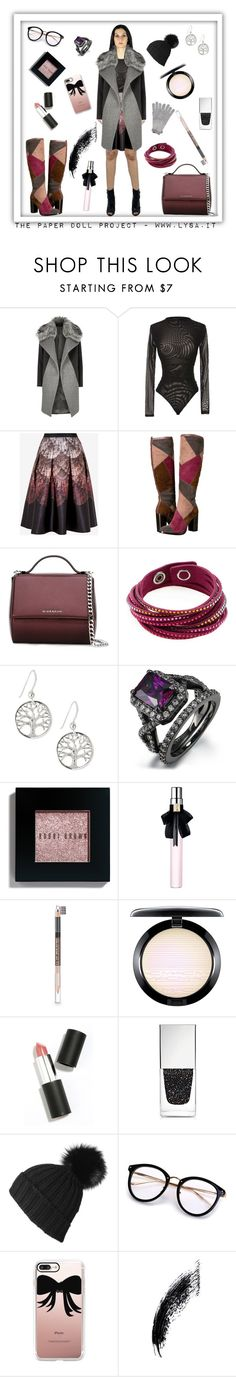 """""""Winter is coming"""" by lysa206 on Polyvore featuring moda, River Island, Ted Baker, Frye, Givenchy, Swarovski, Bobbi Brown Cosmetics, Yves Saint Laurent, The Body Shop e MAC Cosmetics"""