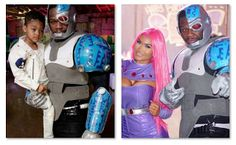 50 Cent Cyborg Costume  TMZ explains that Curtis James Jackson III aka 50 Cent threw his son a birthday party and dressed up as Cyborg! Him and his baby mama Daphne Joy had a party to celebrate their son Sire Jackson's 4th birthday. We're usually very hard on 50 Cent so it's great to see spending time with his little ones. The rapper went all out dressing up as DC Comics superhero Cyborg. Comic Book reports that the Teen Titan-themed celebration took place at L.A. River Studios. The images…