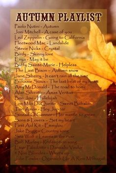 Autumn Playlist by #selyraven