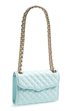 Love! This pastel blue Rebecca Minkoff quilted handbag is so adorable.