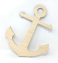 Gocutouts Wooden Anchor Unfinished Baltic Birch Baltic Birch) Unfinished Anchor Wood Cutout Strong Baltic Birch Sanded Smooth Ready for Painting Sides are dark brown due to manufacturing process Size : Tall x Wide Arts And Crafts Projects, Arts And Crafts Supplies, Woodworking Shop, Woodworking Projects, Wood Cutouts, Ocean Themes, Baltic Birch, Wish Shopping, Amazon Art