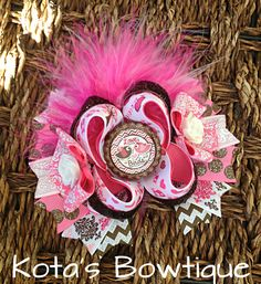 Love Birds valentine boutique bow by KotasBowtique on Etsy, $8.99