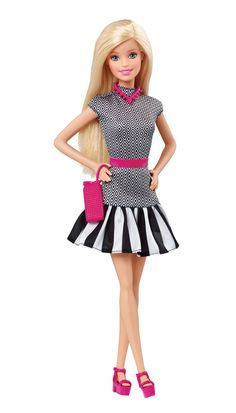 Each Barbie Fashionistas doll has its own unique style, more representative of the world girls see around them [ad]