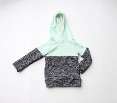 two tone raglan hoodie / sweatshirt // handmade baby/toddler // custom order size and color