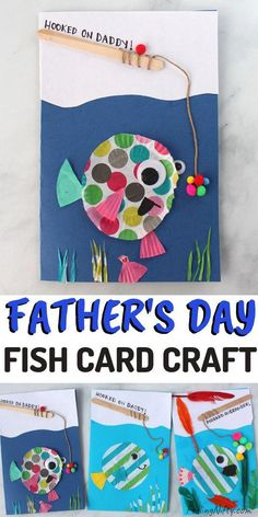 Cute DIY Father's Day Card  - Fish Cupcake Liner Craft | Feeling Nifty