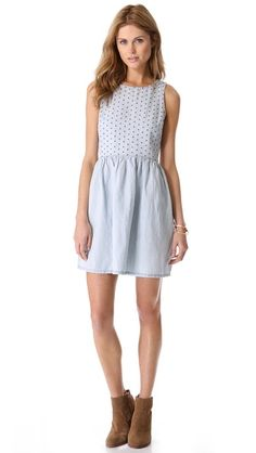 Madewell Chambray Eyelet Dress. Nobody does casual chic weekend like Madewell, and they've done it again with this easy, breezy chambray dress.
