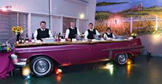 Love this idea Fifties car table Tablescape Centerpiece www.tablescapesbydesign.com https://www.facebook.com/pages/Tablescapes-By-Design/129811416695