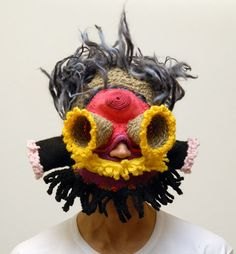 Knitted masks by Aldo Lanzini