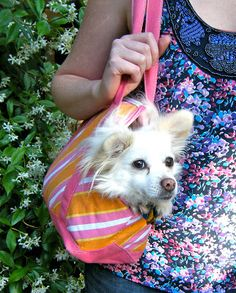 Learn how to upcycle a tote back to make a useful and practical pet carrier.