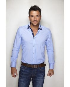 This an Marino Blue shirt from Peter Andre is reminding us of the sun and blue skies around the corner. Gemma Collins, Peter Andre, Perfect People, Blue Skies, Celebs, Celebrities, Men's Apparel, Lovely Things, Love Fashion