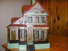 Nice old antique dollhouse, still in good shape. .....Rick Maccione-Dollhouse Builder www.dollhousemansions.com