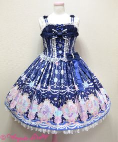 Marine Kingdom jumper skirt - navy/dark blue | #AngelicPretty #AP #JSK #Dress #Lolita