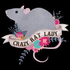 Rat Shirt vrouwen Rat minnaar cadeau schattige Rat T-shirt Rat Care, Rat Tattoo, Rat Toys, Cute Rats, Hamster, Animal Tattoos, Animal Design, Gift For Lover, Fur Babies