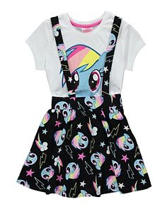 My Little Pony T-shirt and Pinafore Dress Set