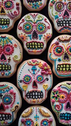 Dia de los Muertos/Day of the Dead Skull Sugar by SurfTownSweets