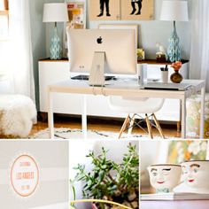 Sarah's Dining Room Home Office DeskTops   Apartment Therapy