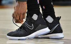 """The Nike LeBron 14 """"Black Ice"""" is expected to release on January Nike Lebron, Lebron 14, Lebron James, Best Sneakers, Casual Sneakers, Sneakers Fashion, Adidas Sneakers, Reebok, Nba"""