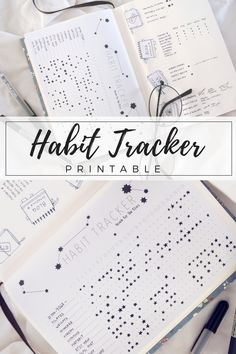 """My completed """"Starry Sky"""" habit tracker for June. Some embarrassing empty spaces, but I still think it looks pretty!  Drawing differently sized stars for more-or-less completed tasks also makes it intuitive and flexible - perfect for a busy month! A printable version is available, too, if you'd like to start your own habit tracker in July!"""