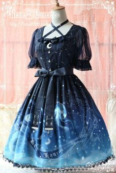 Krad Lanrete- Lost in Sea OP Navy (Size M) « Lace Market: Lolita Fashion Sales and Auctions $210: