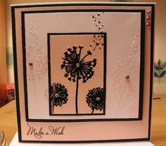 The inkylicious make a wish stamp used with embossing powders and glitter