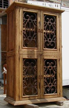 Armario Espanol iron-grilled armoire-would make  nice liquor cabinet/bar or china hutch.