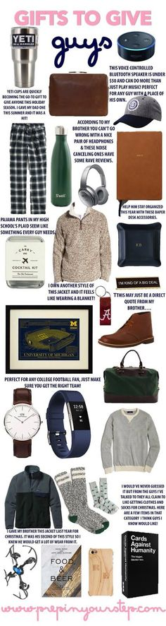 Gifts to Give Guys