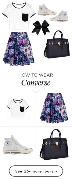 """Crop Top = No Brainer"" by jjwahlberg on Polyvore featuring Converse"