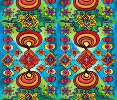 Lotus Wallpaper fabric by heatherpeterman on Spoonflower - custom fabric