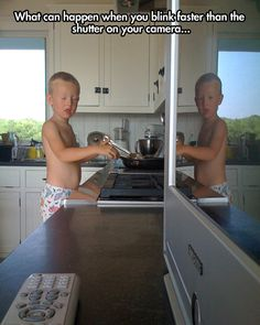 Perhaps this is photographic evidence of that world in the mirror we all think exists as a child. This would terrify my sister muhahaha