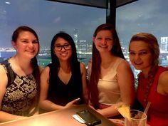 Bar on the 49th floor of the Marriott hotel