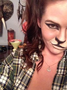 Cat makeup .. Halloween makeup