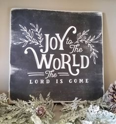 JOY to the WORLD Chalkboard Hand Painted Wood Sign Magnolia Farm Christmas Home Decor. Go to the photo web link more details. JOY to the WORLD Chalkboard Hand Painted Wood Sign Magnolia Farm Christmas Home Decor. Go to the photo web link more details. Christmas Design, Rustic Christmas, Christmas Home, Christmas Holidays, Christmas Crafts, Christmas Ideas, Christmas 2019, Merry Christmas, Christmas Images