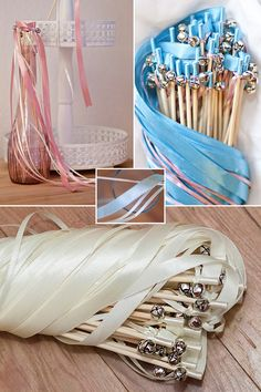 Romantisches Accessoire für Deine Hochzeit: Glücksstäbe mit Glöckchen für die Gäste / cute pastel weddings wands as wedding accessory made by Mrs. Farbenfroh via DaWanda.com