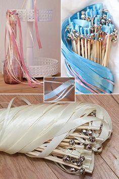 Romantisches Accessoire für Deine Hochzeit: Glücksstäbe mit Glöckchen für die Gäste / cute pastel weddings wands as wedding accessory made by Mrs. Farbenfroh via DaWanda.com