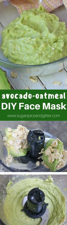 DIY Calming Face Mask recipe with avocado, honey and oatmeal. A homemade beauty recipe so safe and natural - you can eat it!