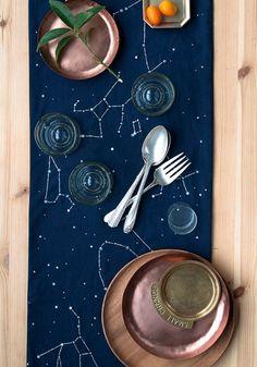 DIY Constellation Table Runner