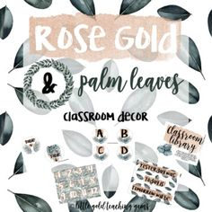 Getting ready for the next school year?! Me too!I created my absolute best piece yet; a new classroom decor set! This set is created with rose gold glittery accents and palm leaves. It will definitely set the mood for a calm and confident school year!Start off each day with calendar time that includes all of the holidays or just have it on display for your class!