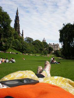 Hannele from Estonia, ex EVS volunteer in Livingston and Edinburgh (Scotland).  The picture was taken in the Prince's Garden in Edinburgh, Scotland.