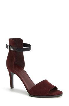 swanky burgundy suede sandals. #fall @nordstrom